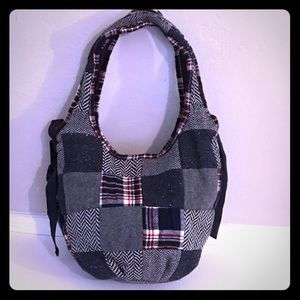 American Eagle Quilted Wool Patches Bag Tote